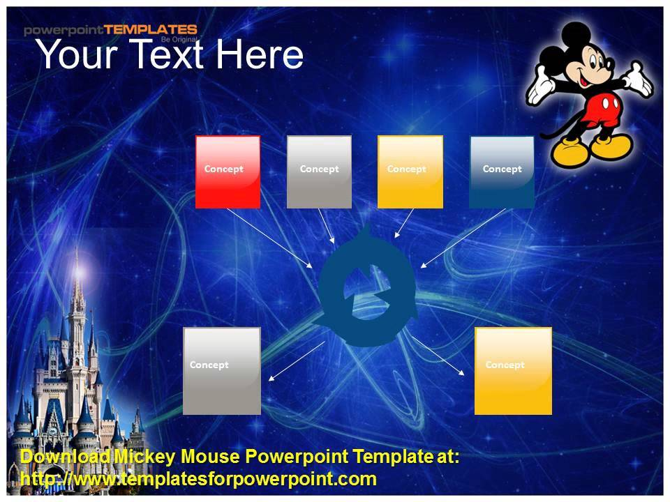 mickey mouse  powerpoint template, Powerpoint