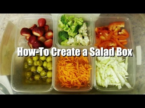 Salad Bar Idea | Create Your Own Salad Box