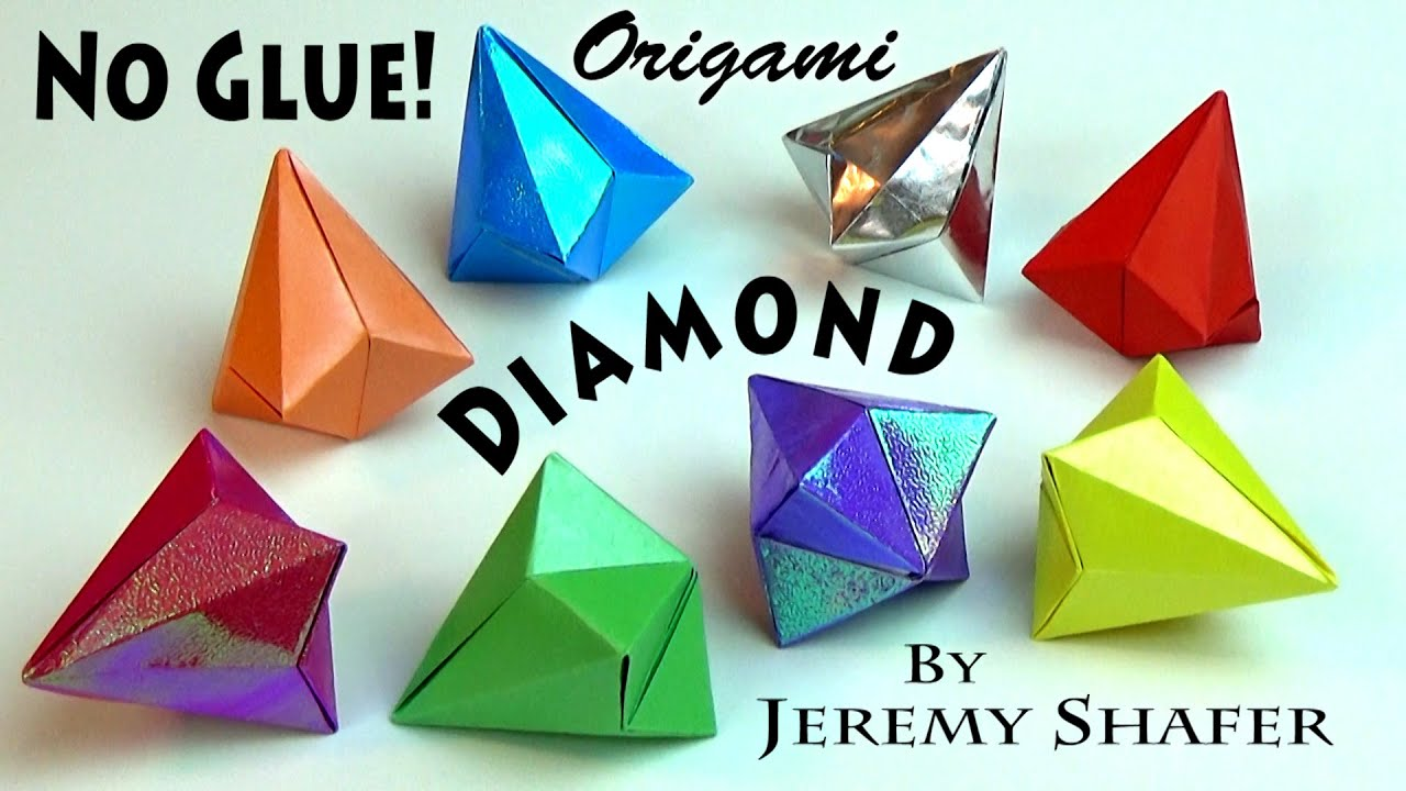 real origami diamond no glue youtube