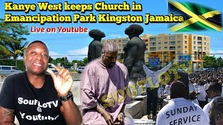 Kanye West Jamaica Sunday Service (Why is he here?) Youtube live