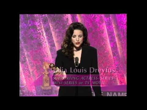 Veep's Julia Louis Dreyfus Wins Best Supporting Actress TV Series  Golden Globes 1994