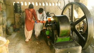 Starting The Old Diesel Engine Best Sounding Diesel Engine Black engine Kala engine 26 HP