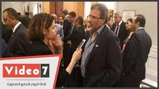 خالد يوسف: خطاب السيسى أمام اجتماع اللاجئين أكد دور مصر الريادى والإنسانى