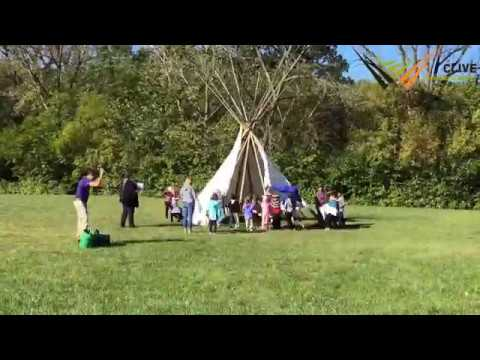 Timelapse: Building a Tepee at Clive Learning Academy