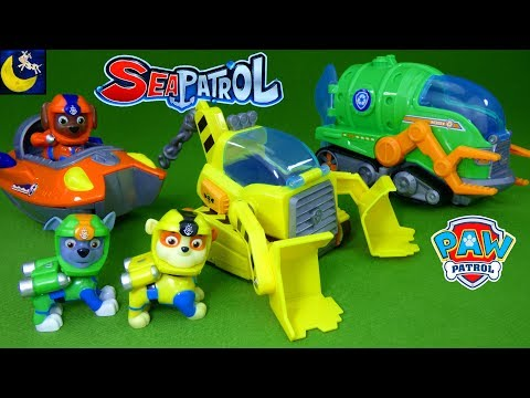 Paw Patrol Sea Patrol Toys Rubble Rocky Zuma Submarine Boat Vehicles My Size Lookout Tower New Toys!