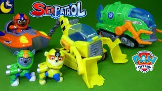 Paw Patrol Sea Patrol Toys Rubble Rocky Zuma Pup Vehicles My Size Lookout Tower