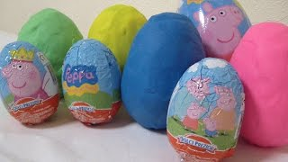 Peppa Pig | Play Doh Surprise Eggs | Kinder Surprise HD