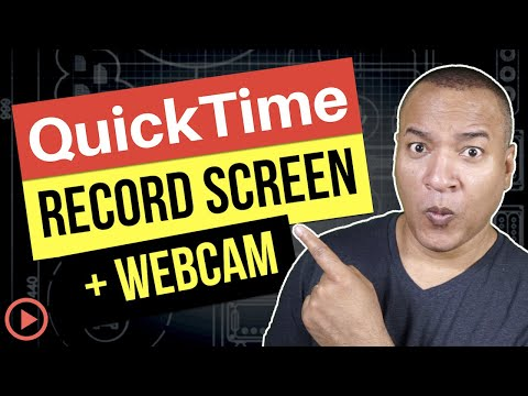 QuickTime Player Tutorial: How To Record Computer Screen AND Webcam (Mac)