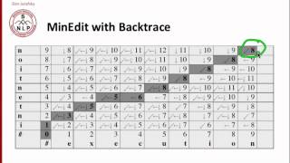 backtrace for computing alignments 3 3