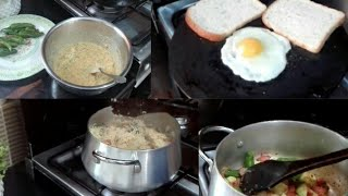 Pakistani family routine!!! Breakfast to lunch routine vegetables pulao ,mirch k pakore !!!