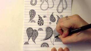 "Henna Alphabet: Element ""C"" - Paisley"
