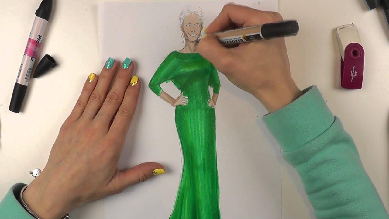 Fashion скетчинг: fashion скетч по фактуре - изображаем атлас.|рисунки девушки мода