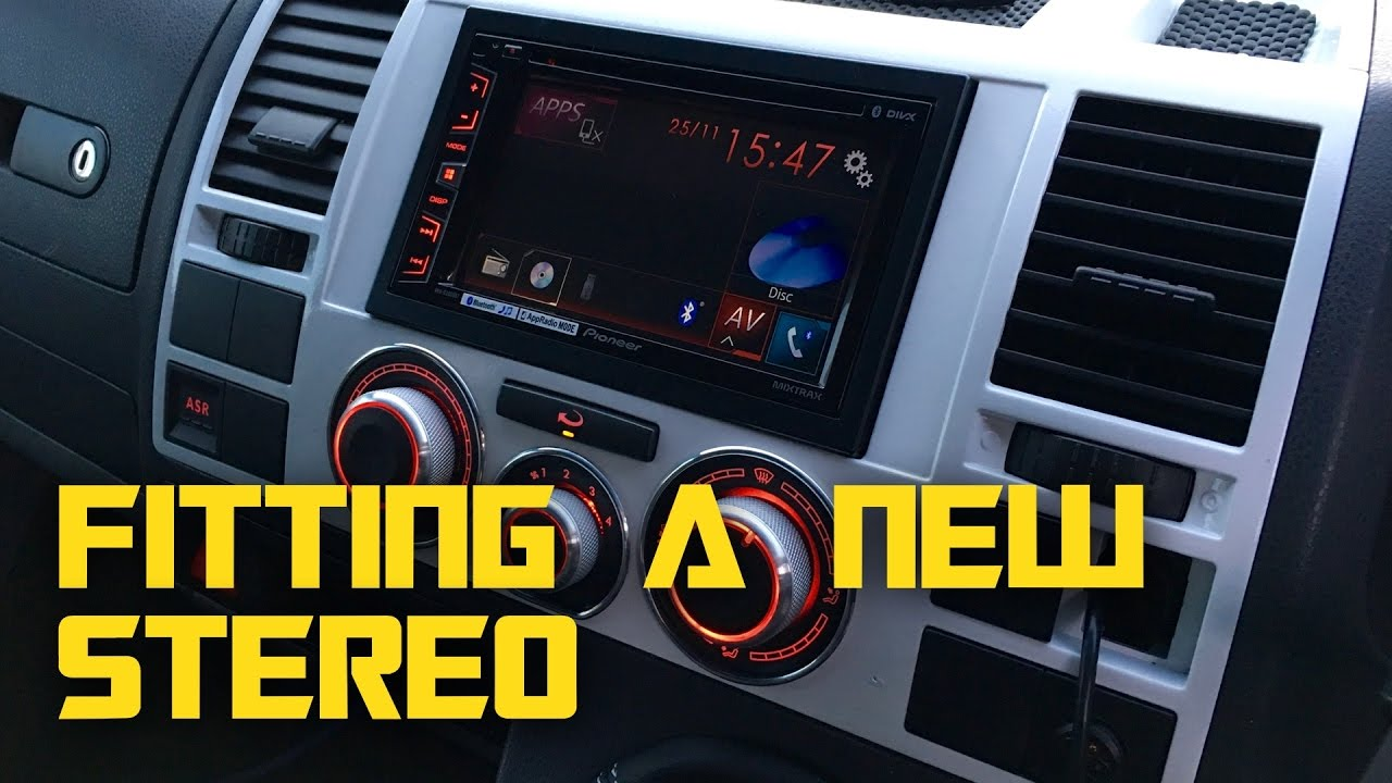 fitting  pioneer avh xbt double din stereo  built diy vw  camper conversion youtube