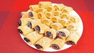 Простое и быстрое печенье с джемом  Simple and quick cookies with jam
