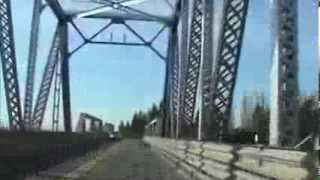 Driving over the Middle River Bridge in San Joaquin County, California