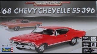 1968 Chevelle SS 396 1:25 Revell #85-4445  -Model Kit Build & Review