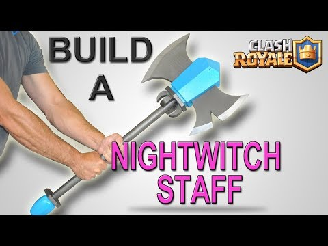 Making (and Testing) a Real Night Witches Staff – Tutorial – DIY Clash Royale Project