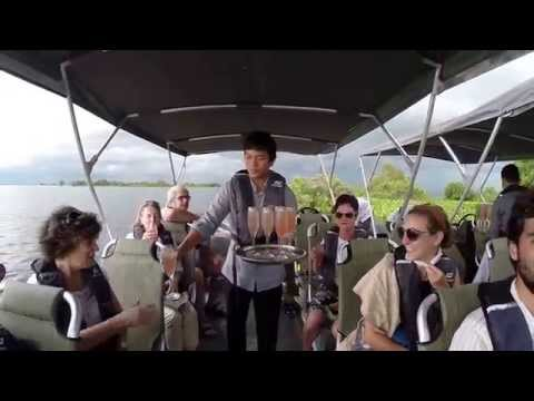 Mekong River Cruises: Sundowners at Sunset