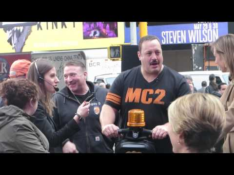 Kevin James Segway Adventure on Times Square promoting 'Paul Blart: Mall Cop 2′ Premiere on GMA