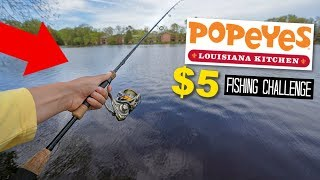 $5 Popeyes Shrimp TACKLE BOX!! Fishing Challenge!