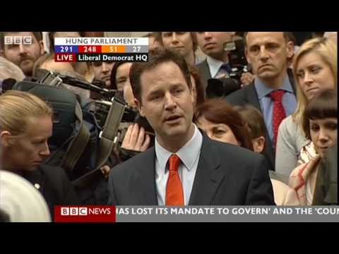 Nick Clegg's Speech - BBC - Election 2010