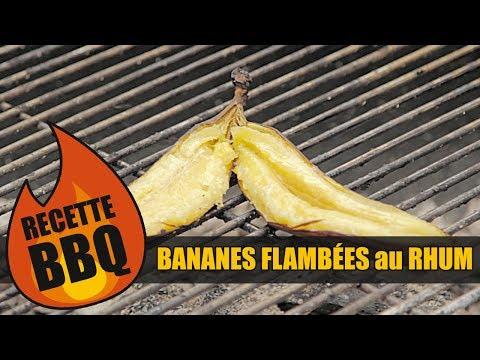 Bob le chef bbq banane flamb e au rhum youtube for Banane plantain au barbecue