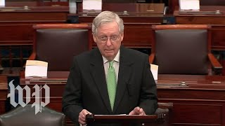 WATCH LIVE: McConnell speaks on Senate floor amid impeachment and Iran tensions