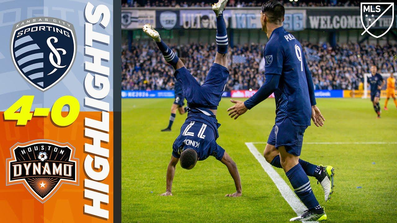 Sporting Kansas City 4-0 Houston Dynamo | Pulido and Kinda DOMINATE for Sporting | MLS HIGHLIGHTS