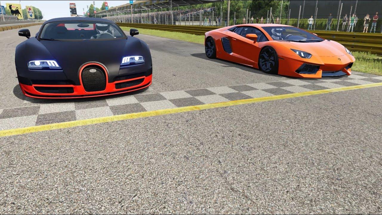 Bugatti Veyron Super Sport 16.4 vs Lamborghini Aventador LP700-4 vs Ferrari SF90 Stradale at Old Spa