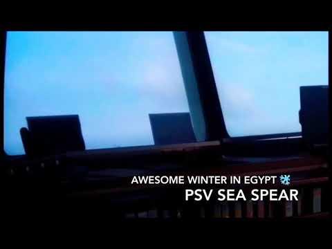Winter season in Mediterranean Sea, Egypt offshore.