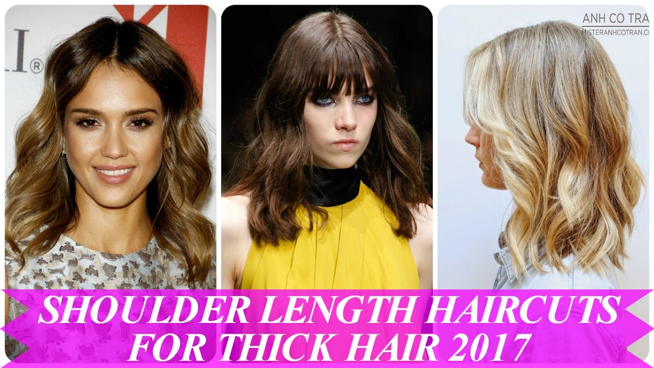 Beautiful Shoulder Length Haircuts For Thick Hair 2017 Youtube