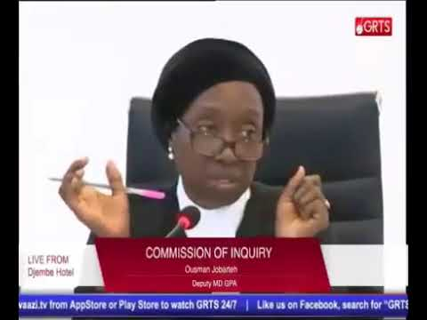 Ousman Jobarteh (Deputy MD GPA) Testifies At The Gambia Commission Of Enquiry