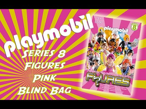 Opening Playmobil Series 8 Figures Blind Bag Pink (girls)