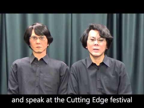 Greetings from Professor in Robotics Hiroshi Ishiguro and his robot