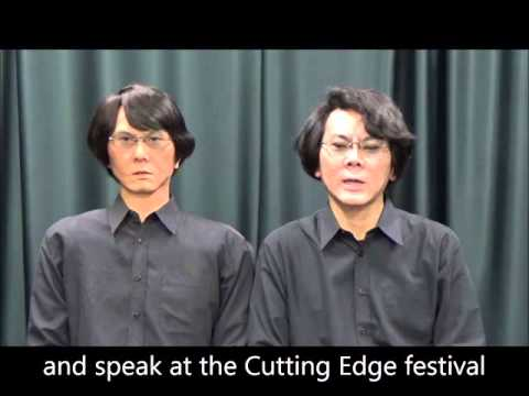 Greetings from Professor in Robotics Hiroshi Ishiguro and his robot
