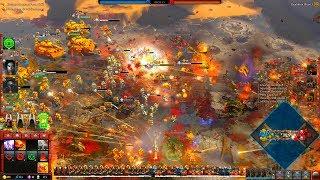 Space Marines vs Orks, 3v3, Hard AI - Warhammer 40K: Dawn Of War 3 - DEATHWATCH MOD