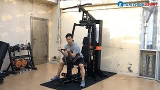 Giàn tạ đa năng 708A New - Dụng cụ tập Gym gia đình phiên bản 2020 tốt nhất