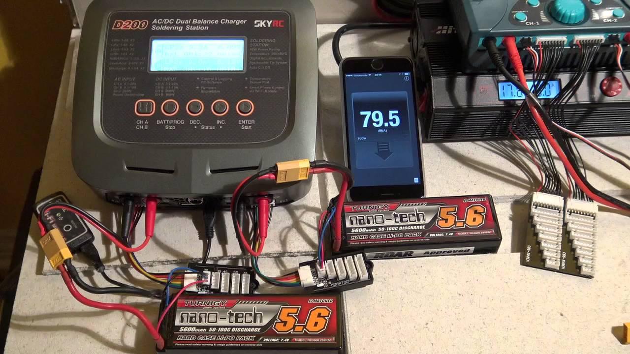 SKYRC Q200 Quattro 10A AC//DC Akku Ladegerät Batterieladegerät Für Lipo Batterie
