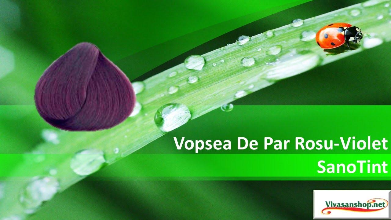 Vivasan Romania Vopsea De Par Rosu Violet Sanotint Vivasan Youtube