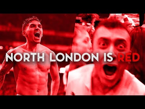 Arsenal fans celebrate north London derby victory