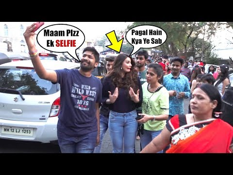 Daisy Shah GETS IRRITATED With Fans As They Wish To Click SELFIE Outside Mount Mary Church Bandra