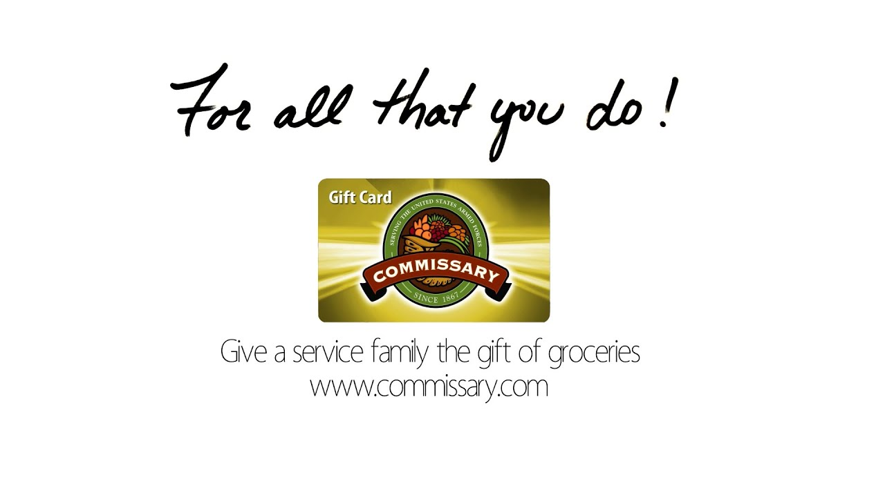 Gift Cards | Commissaries