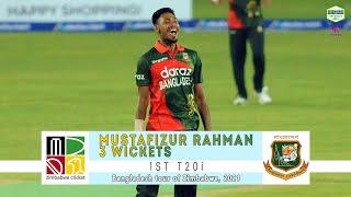 Mustafizur Rahman's 3 Wickets Against Zimbabwe | 1st T20i | Bangladesh tour of Zimbabwe 2021 screenshot 2