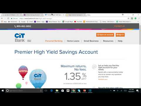 Ally Bank vs CIT Bank vs Synchrony Bank Savings account comparison