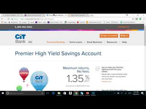 Ally Bank vs CIT Bank vs Synchrony Bank Savings account comparison