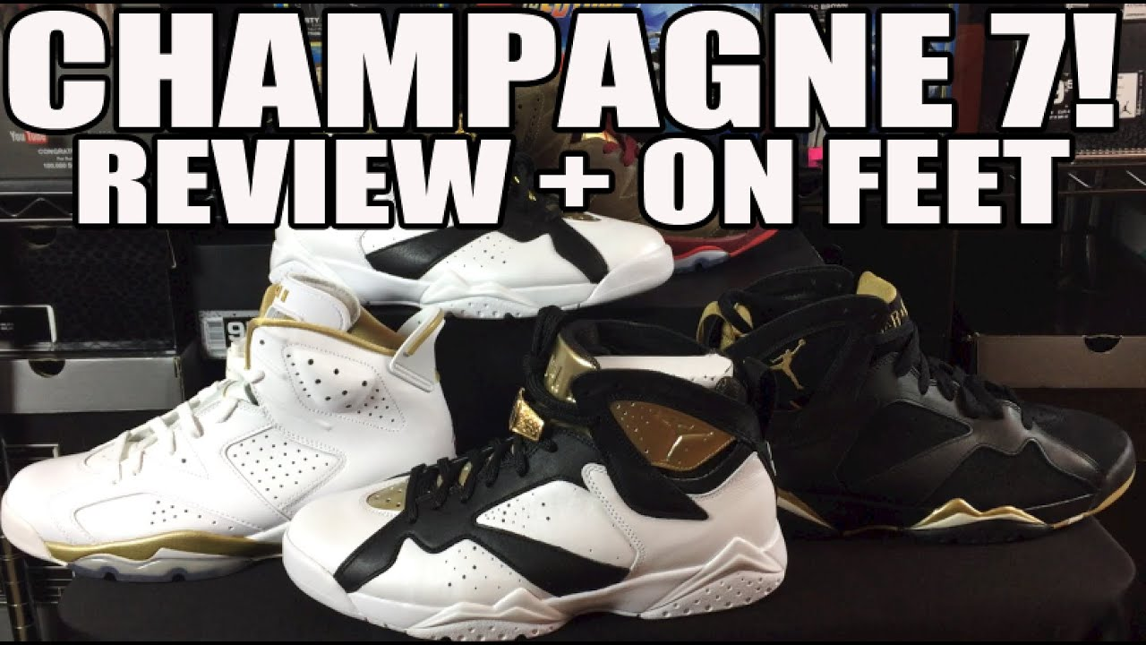 info for 34d9b 6e7e1 Air Jordan 7 Champagne C   C Pack + On Feet Review
