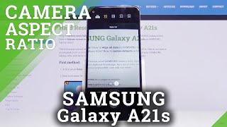 SAMSUNG Galaxy A21s – Aspect Ratio Option in Camera Settings