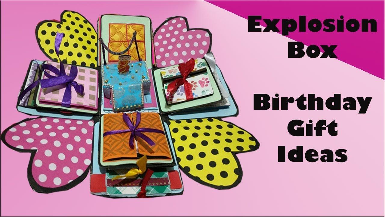 Explosion Box | Wedding Gift Ideas | Birthday Gift Ideas - YouTube