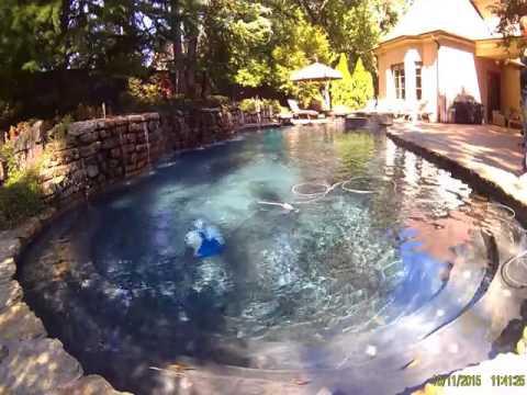 test robot silver  pool test 2
