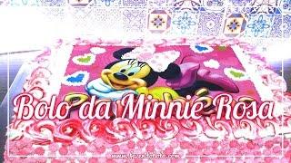 Minnie Mouse Cake! - Bolo da Minnie Rosa  - Dia das Crianças #fzbl